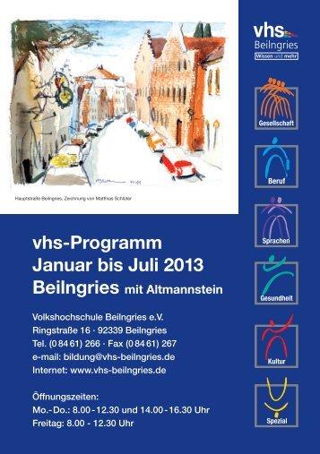 Kurz-Programm '13 - vhs Beilngries