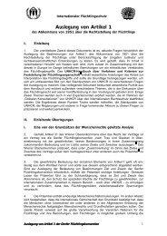 Auslegung von Artikel 1 - unhcr