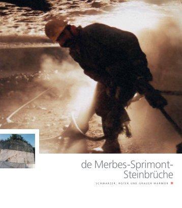 de Merbes-Sprimont- Steinbrüche - Pierres & Marbres de Wallonie
