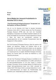 PDF-Datei der Pressemeldung - Messe Düsseldorf