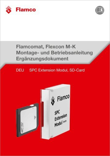 Ergänzungsdokument -SPC Extension Modul, SD-Card - Flamco