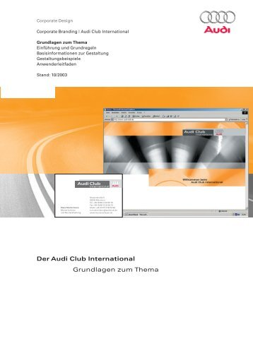 Der Audi Club International Grundlagen zum Thema