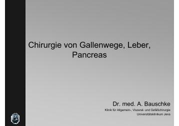 Chirurgie von Gallenwege, Leber, Pancreas - Klinik für Allgemein ...