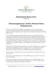 Stimmungskanone Achim Mentzel beim ... - Hotel Neptun