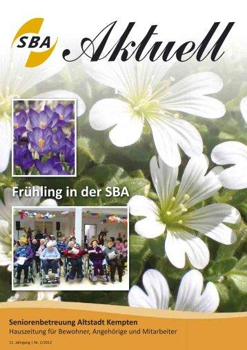 Frühling in der SBA - Seniorenbetreuung Altstadt der Prot ...