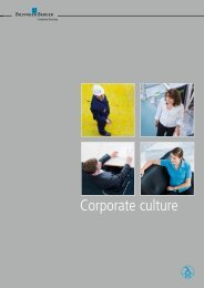Corporate culture - Bilfinger Berger Industrial Services