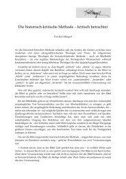 Die historisch-kritische Methode – kritisch betrachtet - Kurt Bangert.de