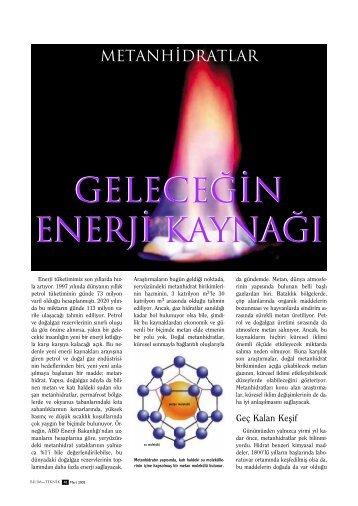 Geleceğin Enerji Kaynağı Metanhidratlar 2002