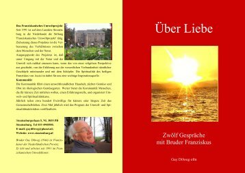 Ueber Liebe, 12 Gespräche mit Franziskus als Büchlein (pdf)
