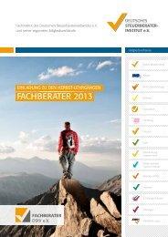 Fachberater-Lehrgänge 2013 - Deutscher Steuerberaterverband eV