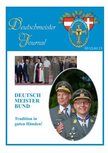 Deutschmeister-Journal - bei der kuk Wiener Regimentskapelle IR4