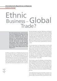 Unternehmerische Migrantinnen und Migranten - terra cognita