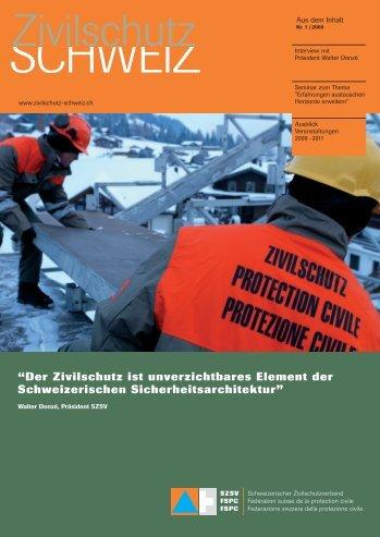 """""""Der Zivilschutz ist unverzichtbares Element der Schweizerischen ..."""