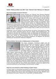 Telemark Team Germany zur Leistungsdiagnostik am IAT Leipzig
