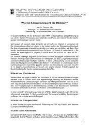 Carotinversorgung der Milchkuh - LAZBW