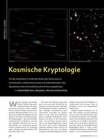 Kosmische Kryptologie