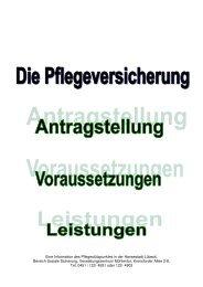 Pflegeversicherung - Antragstellung 2013 - Hansestadt LÜBECK