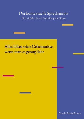 Der kontexturelle Sprechansatz - Claudia Brinker
