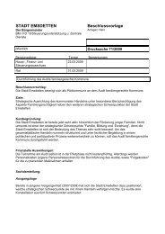 Ratsvorlage zur Teilnahme am Audit - Familiengerechte Kommune