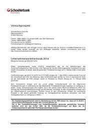 Verkaufsprospekt Unternehmensanleihenfonds 2014