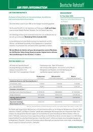 Factsheet - Deutsche Rohstoff AG