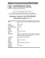 Guidance notes for the SEIS-BASIS information system v.1.1