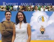 Rapport annuel 2002 - 2003 - Université de Moncton