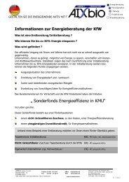 """"""" Sonderfonds Energieeffizienz in KMU"""" - AIXbio"""