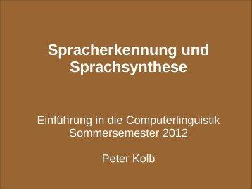 Automatische Spracherkennung und -synthese