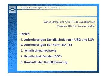 Kontrollen - Schweizerische Gesellschaft für Akustik