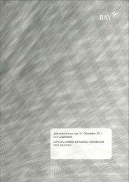 Jahresabschluss 2011 - AGICOA Urheberrechtsschutz GmbH
