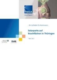Solarparks auf Brachflächen in Thüringen - ThEGA