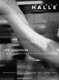 URS LENGWILER - KunstHalle Wil