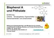 Bisphenol A und Phthalate - Ministerium für Umwelt, Landwirtschaft ...