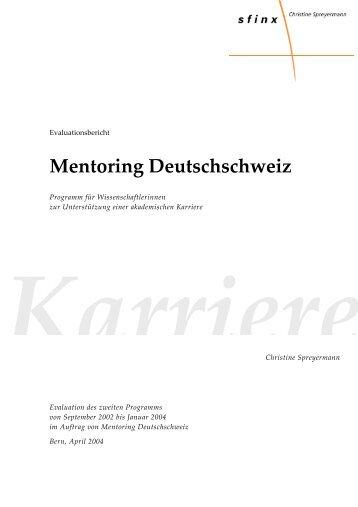 Programm 2 - Mentoring Deutschschweiz