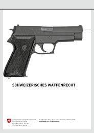 SCHWEIZERISCHES WaffEnRECHt - Eidgenössische ...