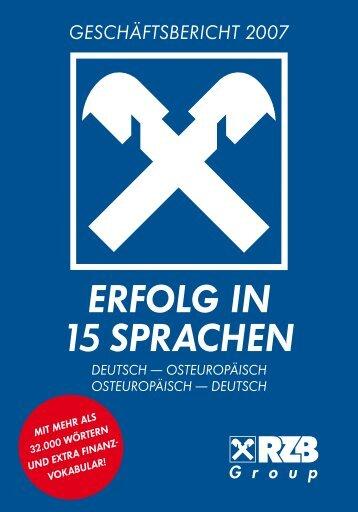 ERFOLG IN 15 SPRACHEN DEUTSCH - Investor Relations