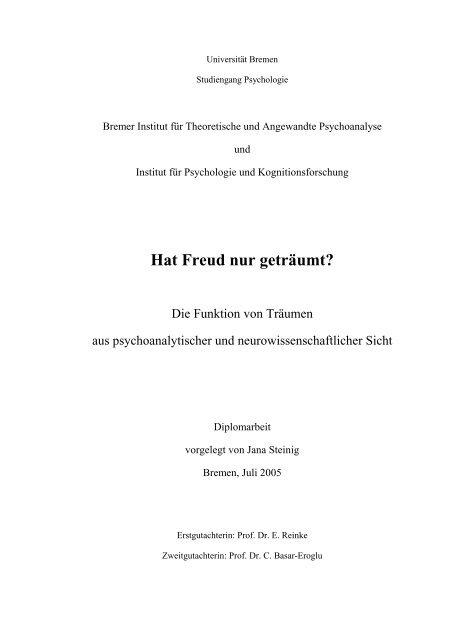 Hat Freud nur geträumt? - Institut für Psychologie und ...
