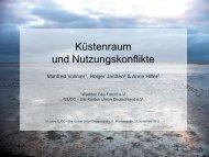 KüstenRAUM und Nutzungskonflikte - Küsten Union Deutschland