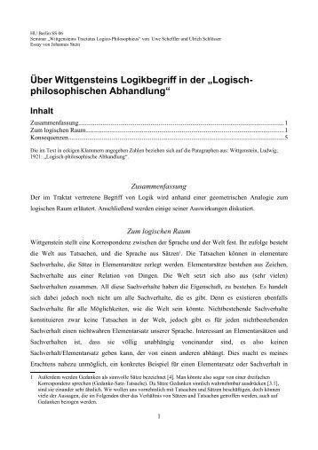 logischer Raum - Johannes Stein