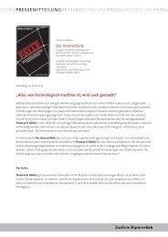 Pressemitteilung - Frankfurter Allgemeine Buch