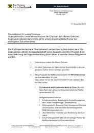 Oberösterreichs Unternehmen nutzen die Chancen der ... - Raiffeisen
