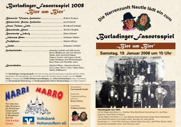 Burladinger Fasnetsspiel - Narrenzunft Nautle Burladingen eV
