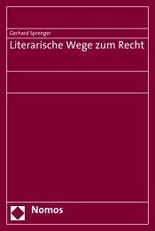 Literarische Wege zum Recht - Nomos