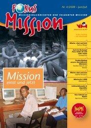 einst und jetzt - bei der Velberter Mission