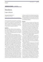 Simulation - Ugeskrift for Læger