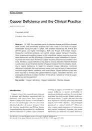 Copper Deficiency and the Clinical Practice