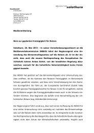 Medienmitteilung Nein zur geplanten Freizügigkeit für Notare ...