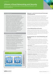 VMware vCloud Networking and Security