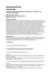 Politischer Extremismus: Einführung in die Analyse von Ursache ...